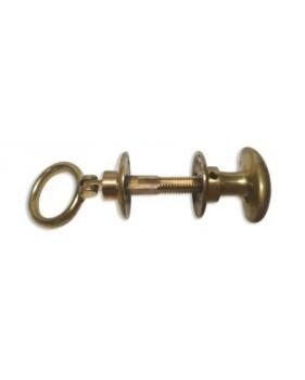 Poignée ovale et à anneau en laiton