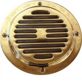 Grille de ventilation ronde laiton massif