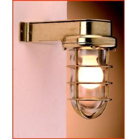 LAMPE EN APPLIQUE MURALE AVEC GRILLE LAITON