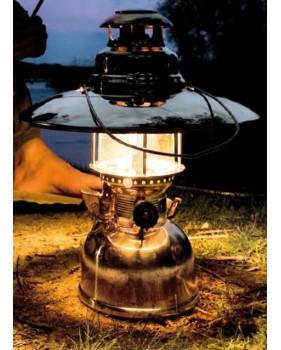 LAMPE TEMPETE À PRESSION LAITON POLI PETROMAX