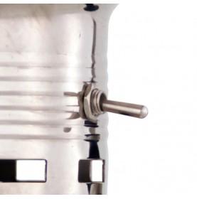 INTERRUPTEUR LAMPE TEMPÊTE ELECTRIQUE LAITON CHROME