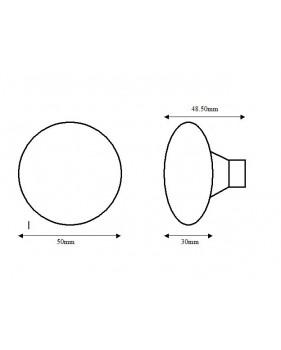 côtes poignée de porte ronde en laiton