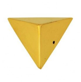 Coin de meuble en laiton poli bords droits