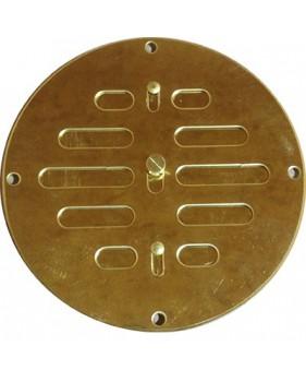 Grille ronde réglable fermée en laiton poli