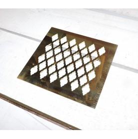 Grille laiton sur-mesure motif losange stylisée
