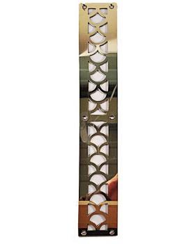 Grille d'aération laiton sur-mesure motif art-déco