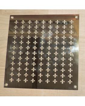 Grille de ventilation sur-mesure en laiton