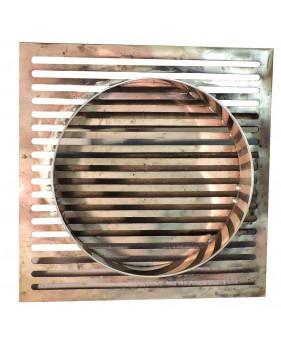 grille d'aération encastrable en laiton