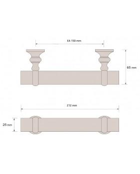 Côtes oignée bâton de maréchal diamètre 25mm