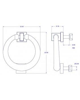 Heurtoir anneau de porte d'entrée en laiton