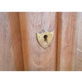 Entrée de clé écusson en laiton pour meuble