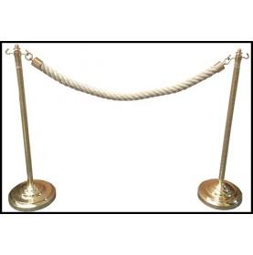 Barrière en laiton et cordage