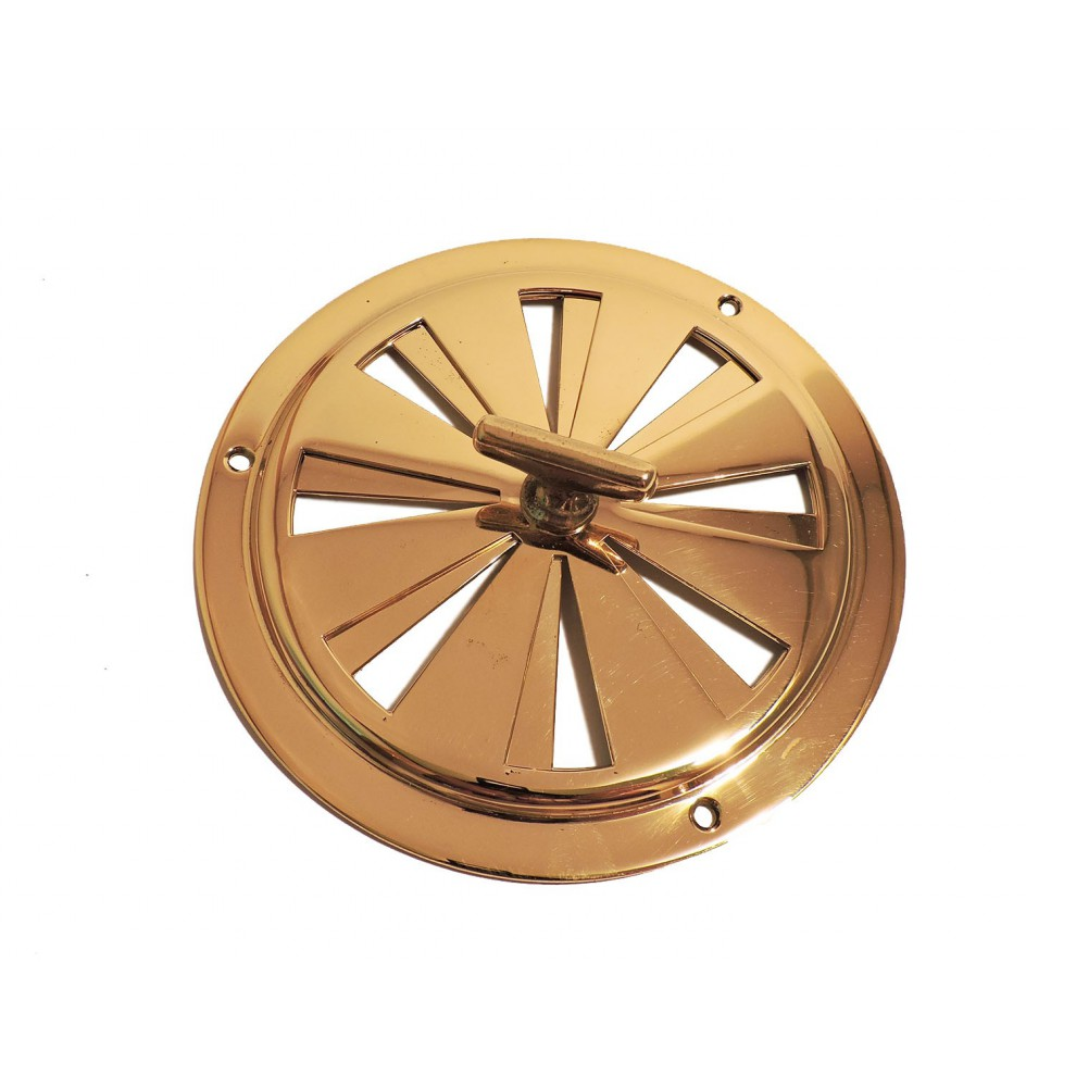 Grille de ventilation ronde réglable en laiton