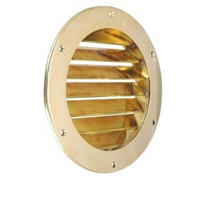 Grille de ventilation ronde semi-encastrée en laiton