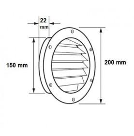 Côtes grille de ventilation ronde semi-encastrée
