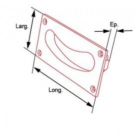 côtes poignée encastrable forme de main