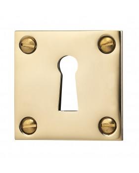 Rosace carré de clé en laiton poli