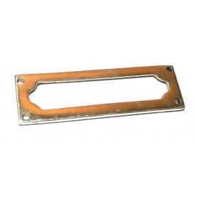 Porte étiquette étroit mouluré en laiton