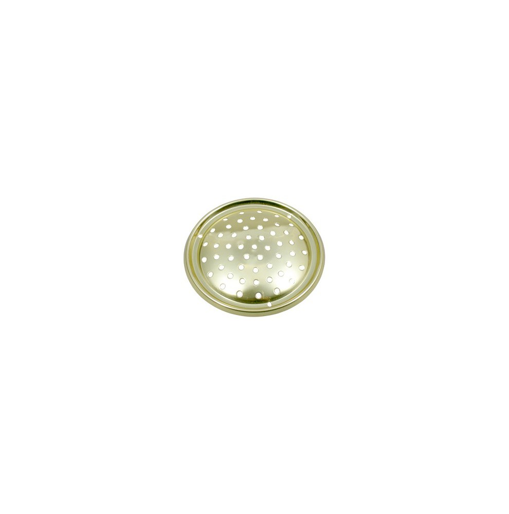 Mini grille d'aération circulaire en laiton poli