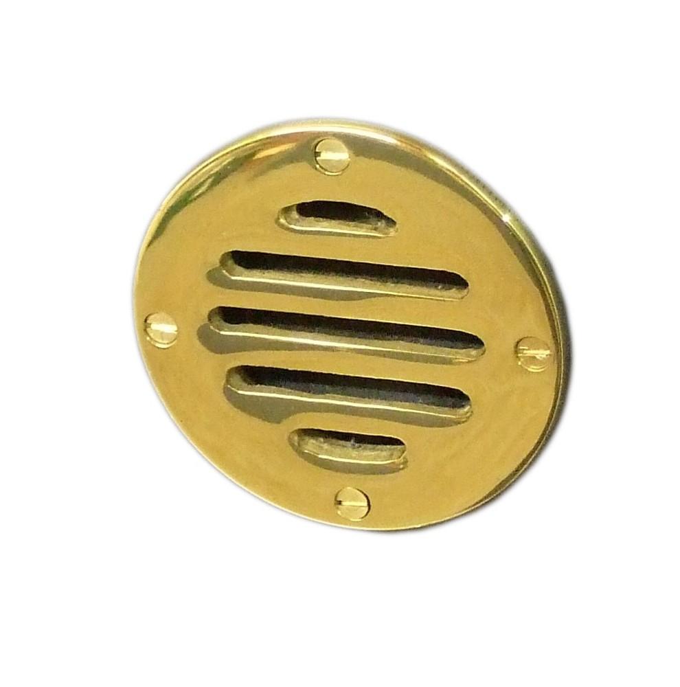 Petite grille d'aération ronde de 83mm en laiton