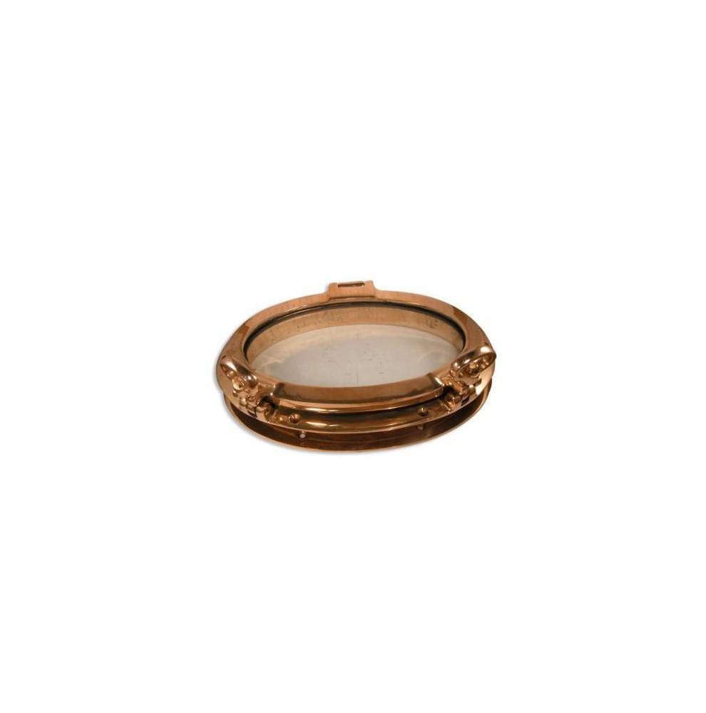 Hublot ovale ouvrant en bronze massif