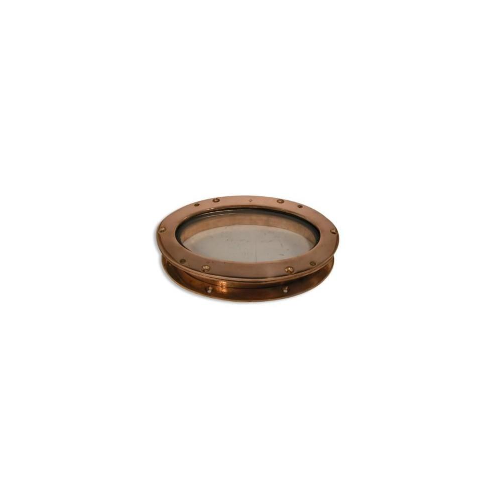 Hublot ovale fixe en bronze