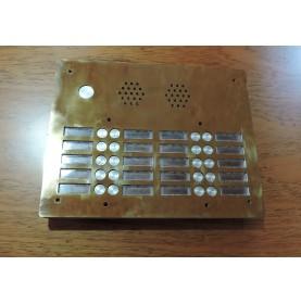 grille d'interphone en laiton poli