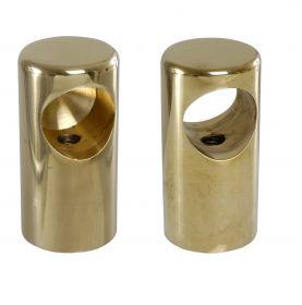 Support de main courante cylindrique en laiton