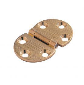 Charnière ronde en laiton 47x30mm