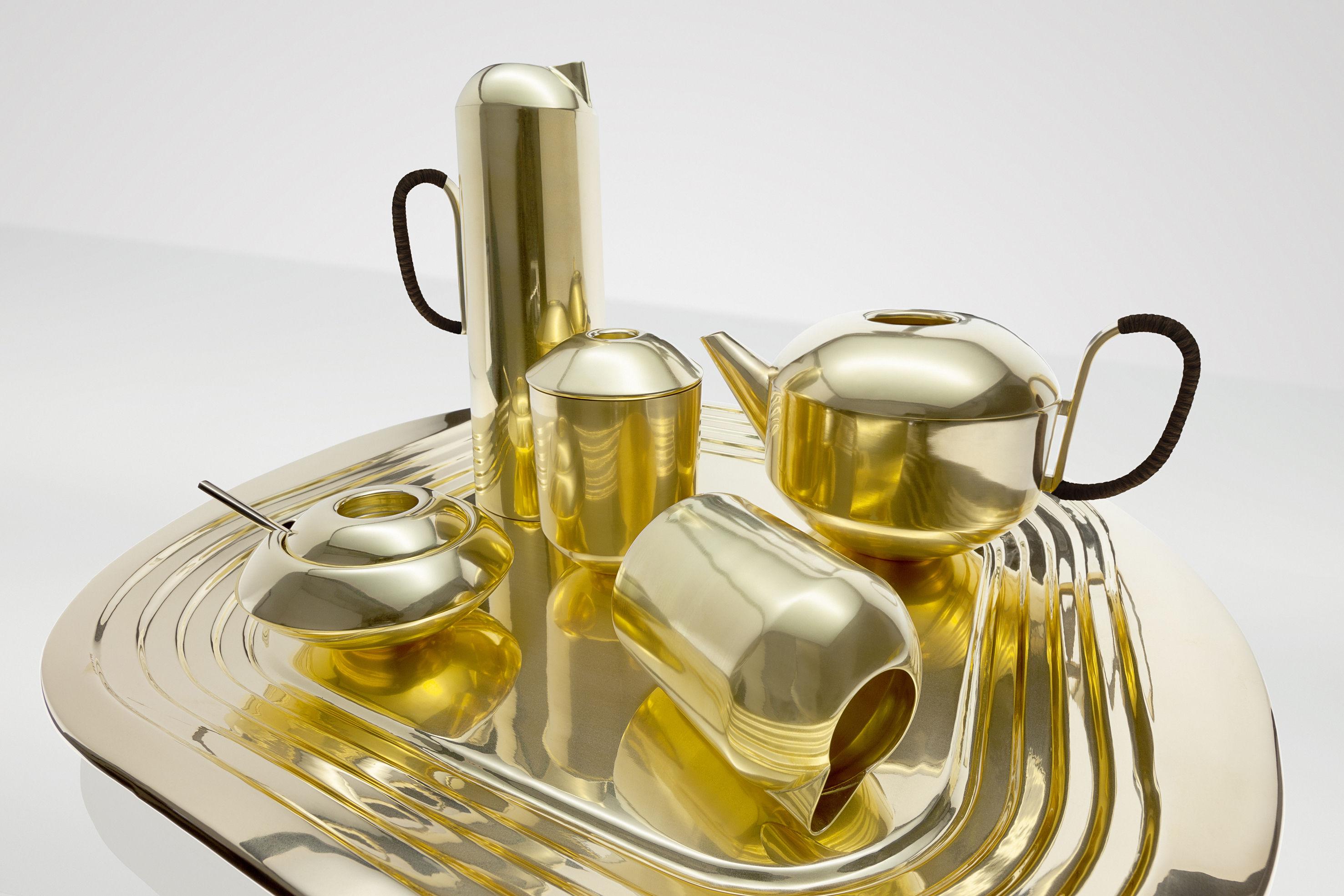 service à thé laiton