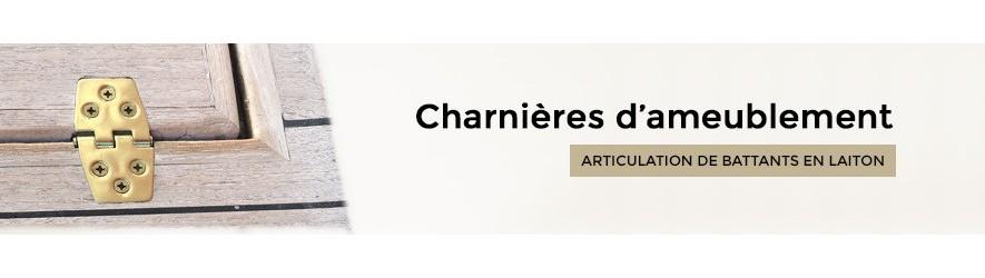 Charnières laiton décoratives