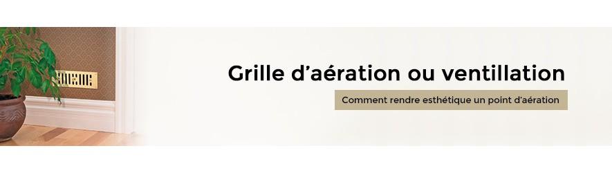 Grille d'aération décorative en laiton